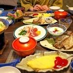 竹林庵みずの - 朝食いろいろ。