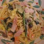 フォルツァ - ベーコンと季節野菜のアンチョビ風味・クリームソースパスタ
