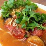 ゴールデン・バーニング - 茄子とトマトの辛いフォー
