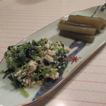 カクテルバー しろ - 【三つ葉の白和えとふきの煮物】