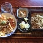 そば処 きしち - 料理写真:天丼蕎麦せいろセット、800円。十割手打ち蕎麦です。