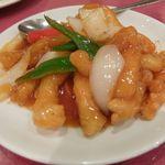 京華樓 - 白身魚の甘酢炒め