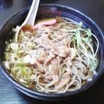 そば処 寿々喜 - そば処寿々喜 支店@多賀城 山形冷やし肉そば・大盛 2011年1月