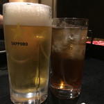牛禅 - 生ビール、ピーチウーロン