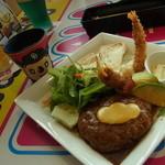 ドアラ カフェ - アボカドトマトハンバーグ ドアラチーズ乗せ 1680円