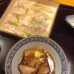 一直 - 豚の角煮と鯛