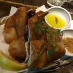 丸鶏 るいすけ - 名物メニュー 丸鶏の素揚