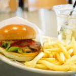 the 3rd Burger - ベーコンチーズバーガー (¥590)、Sセット (¥+330)