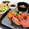 白沢高原ホテル - 料理写真:国産牛和風サーロインステーキ溶岩プレート焼き