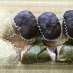近江堂 - 料理写真:きな粉餅、ぼた餅、桜餅〔16/3/20撮影〕