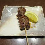 もつやき 松井 - 厚切り牛ハラス串(600円)
