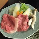 万清楼 - 料理写真:熊野牛 しゃぶしゃぶ