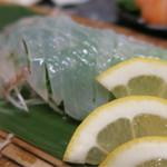 博多魚がし 海の路 - 泳ぎイカのお造り