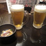 三浦鮮魚直売所 - ビールとお通し