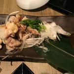 霧島屋 - 炙り鶏皮ポン酢