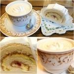 チックタック - ウインナーコーヒー&フルーツロールケーキ(セットにしてくれた)