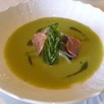48980383 -                        イタリア産エンドウ豆のクレマとサワラのコンフィ