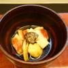 日本料理 喜春 - 料理写真:お椀は金目鯛、ミョウガと椎茸で(創作漆の器も素晴らしい)