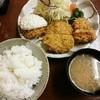 清水屋 - 料理写真:清水屋定食(カニクリームコロッケ+メンチ+ヒレ)980円