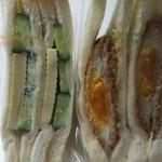 清林堂 - キュウリとチーズ190円とハムエッグ260円