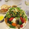 エピドール - 料理写真:季節のサラダの盛り合わせ+パン1,250円。すんごいボリューム(笑)。