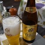 山中湖畔のステーキ酒場 - 瓶ビール