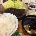 49039008 - みそかつ定食(大盛)【料理】