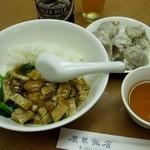 慶華飯店 - 叉焼飯と焼売。