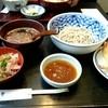 多め勢 - 料理写真:越前天付き〜冷たい蕎麦