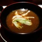 みちば和食 銀座 たて野 - 椀:もずく味噌仕立て