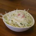 爛々亭 - サービスのサラダ