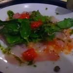 ラガッツォ - 鯛のカルパッチョ