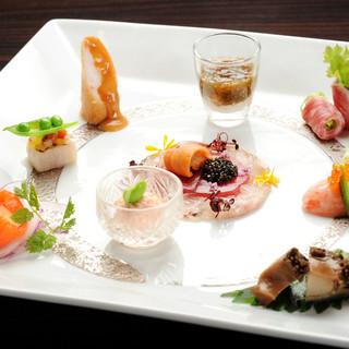 国内・海外で経験豊富なシェフが選ぶ厳選食材を使用する