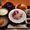 越後屋 長兵衛 - 料理写真:ランチのお刺身と揚げ物の定食。