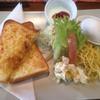 かふぇ だんだん - 料理写真:アーモンドトーストセット