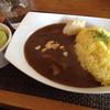 カフェ八幡二丁目 - 料理写真:チキンカレーセット