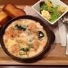 和蘭豆 - 料理写真:エビとほうれん草のグラタン