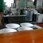 麺匠 玄龍 - 厨房の様子