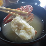 魚料理 いず松陰 - 渡り蟹の味噌汁