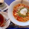 Cafe Madu - 料理写真:ベーコンとナス、モッツァレラチーズのバジリコトマトソース