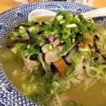 西谷家 - 今回は「ちゃんぽん(720円)」をオーダーしました。 ◆ちゃんぽん・・麺は半分にして頂きました。(割引はありません) 通常のちゃんぽんスープではなく、こちらのラーメンスープを薄めたような感じかしら・・