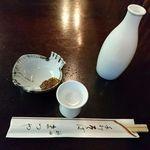 神田まつや - 料理写真:御酒、そば味噌@神田まつや(2016年3月某日)