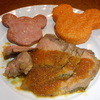 セイリングデイ・ブッフェ - 料理写真:ソーセージ・焼おにぎり・ローストビーフ