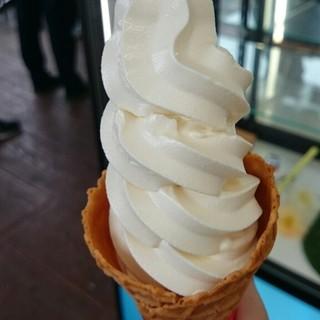 ソフトクリーム工房 - 料理写真:生乳ソフトクリーム   ¥380