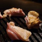 軍鶏十番 - 2016.3 軍鶏素焼き・焼き野菜