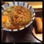 そば新 - 料理写真:朝食サービスセット 370円