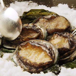 八王子うかい亭 - 料理写真:鮑の岩塩蒸し