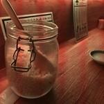 蕎麦さんかく - もり蕎麦用の揚げ玉