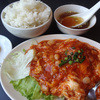 香福 - 料理写真:小柱と卵のチリソースです