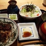 49310748 - まぶし丼ランチ 1480円+(うな茶漬け用)出汁スープ100円